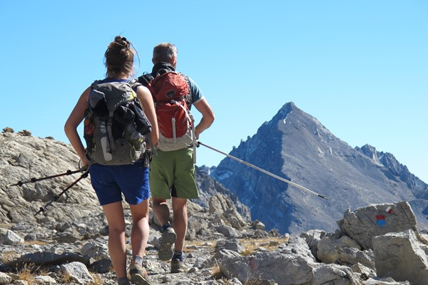 lake trek briancon to nice mediterranean GR5 French Alps